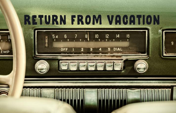 LISTENING STATION: A smooth return from vacation
